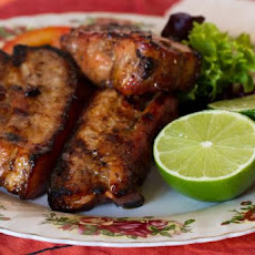 Ginger, Garlic, and Honey Grilled Baby Back Ribs