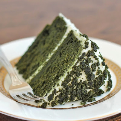 Green Velvet Layer Cake with Vanilla Bean Frosting