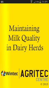 Milk Quality in Dairy Herds - screenshot