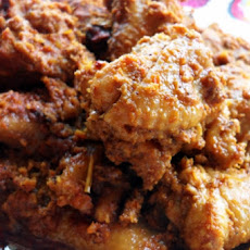 Coconut curried chicken wings