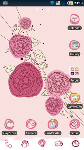 Sweet Rose GO LauncherEX theme
