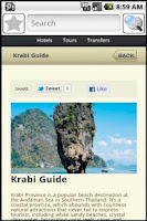 Screenshot of Krabi Travel Guide