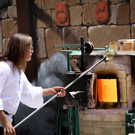 Master Glass Blower by Leah N - People Musicians & Entertainers ( ren fair last weekend 2014 )