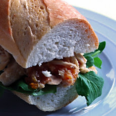 Chicken Sandwich With Arugula and Sun-Dried Tomato Vinaigrette