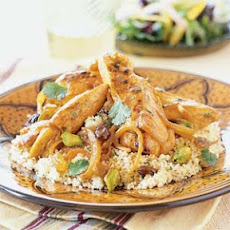 Chicken Tagine with Raisins and Pistachios