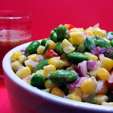 Soybean Succotash With Sesame Ginger Vinaigrette