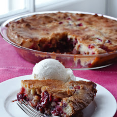 Easy Cranberry & Apple Cake