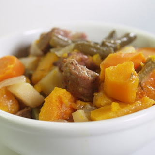 Slow Cooker Sausage And Butternut Squash Stew