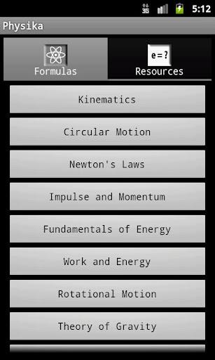 Physika Physics Reference App