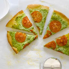 Arugula Pesto, Ricotta, and Smoked Mozzarella Pizza