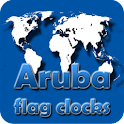 Aruba flag clocks icon