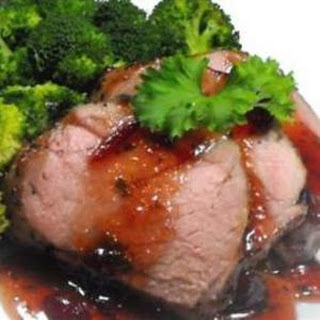 CRANBERRY GLAZED PORK LOIN ROAST