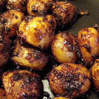 New Potatoes With Sweet-spicy Miso