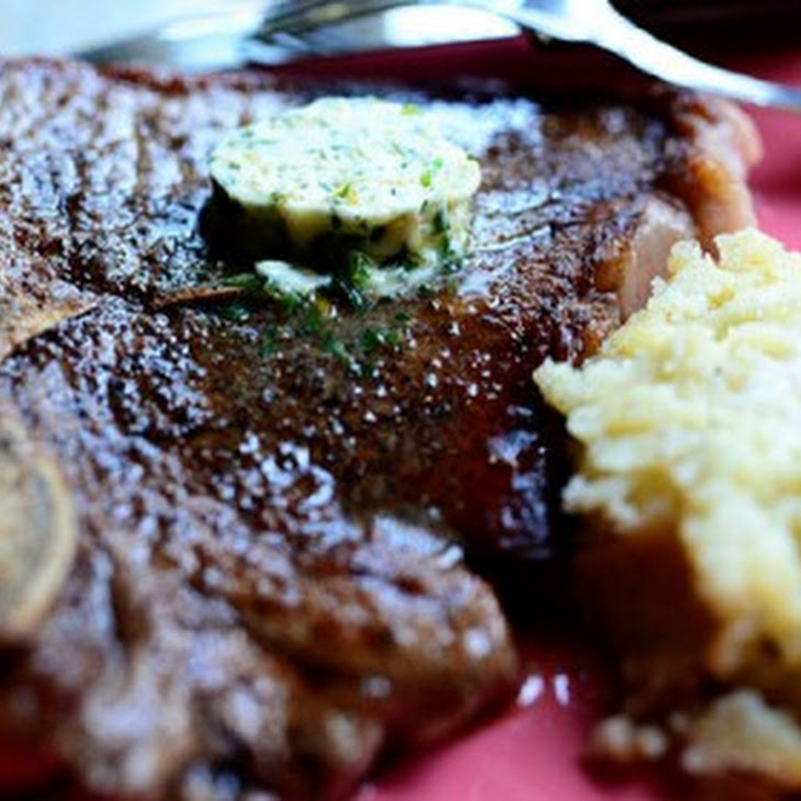 T-Bone Steaks With Black-Pepper Butter Recipe — Dishmaps