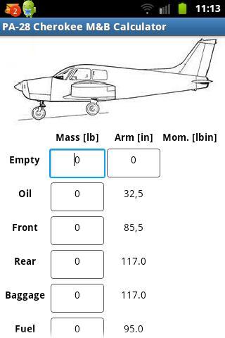 PA-28 Cherokee Mass Balance