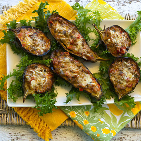 Stuffed Baby Eggplants