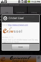 Screenshot of Cricket Live!