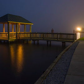 One Foggy Morning by John Goff - Landscapes Weather ( sunrise, new bern )