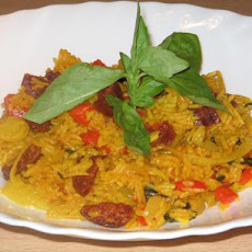 Chorizo and Basil Pilaf