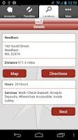 Screenshot of Leader Bank Mobile Banking