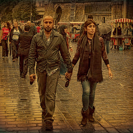 Istanbul. Two after rain. by Eugene Goldin - People Street & Candids ( street scene, istanbul, turkey, people, rain )