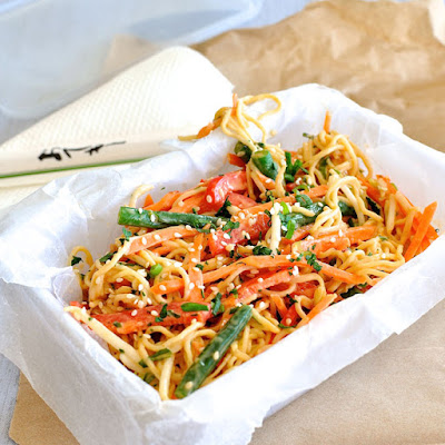 Noodle Salad With Creamy Sesame Peanut Dressing