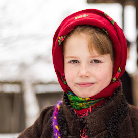 young girl - Innocence by Adrian Bercea - Babies & Children Child Portraits ( fashion, old, girl, village, tradition, romanian, christmas, innocence, bucovina, young )