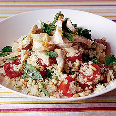 Lemony Roast Chicken Couscous