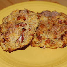 Maple Cinnamon Sweet Potato Scones With Pecans