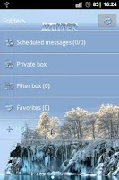 Screenshot of Winter theme Go SMS Pro