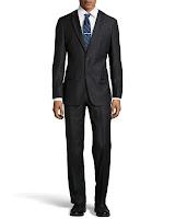 Hugo Boss Pasini Pinstripe Two-Piece Suit, Black - (40L)