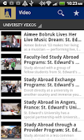 Screenshot of St. Edward's University Mobile