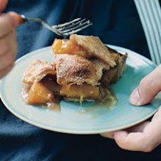 Honey Caramel Peach Pie