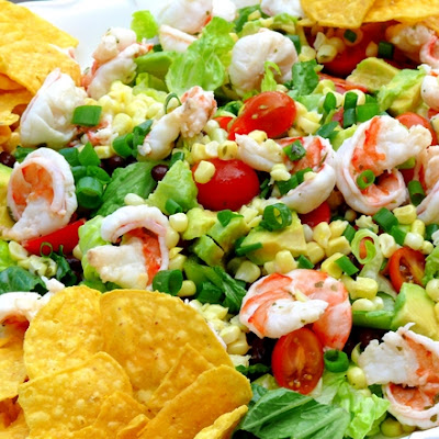 Cilantro-Lime Shrimp, Corn and Black Bean Salad