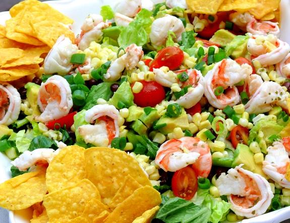 Cilantro-Lime Shrimp, Corn and Black Bean Salad Recipe | Yummly