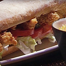 Pan Fried Catfish Po'Boys with Green Tomato Chow Chow