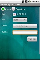 Screenshot of Tunisia Flights Tracker