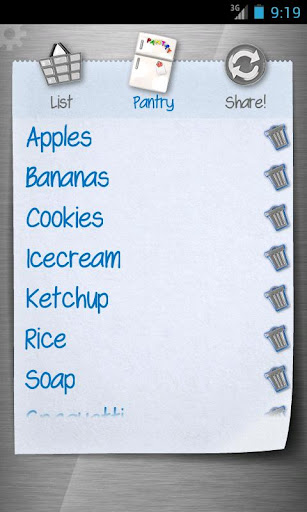 Shopping list - ListOn Basic - screenshot