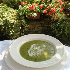 A Summer Soup of Lettuce, Cucumber and Peas