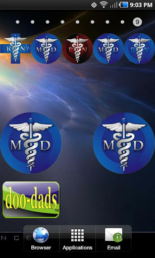Medical Symbol MD doo-dad