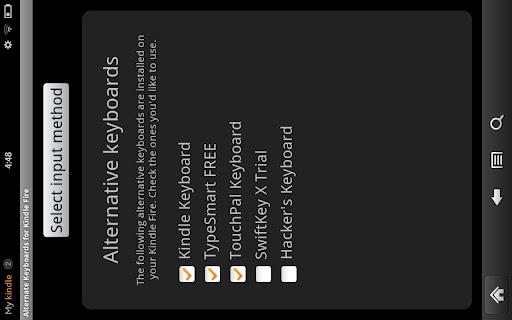Alternate Keyboards for Kindle