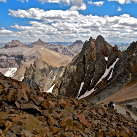 View from Mount Sneffels by Hunter Ten Broeck - Landscapes Mountains & Hills ( san juan range, ouray, mount sneffels, rocky mountains, colorado )