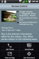 Screenshot of Ashram Information Guide