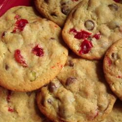 Spumoni Chocolate Chip Cookies