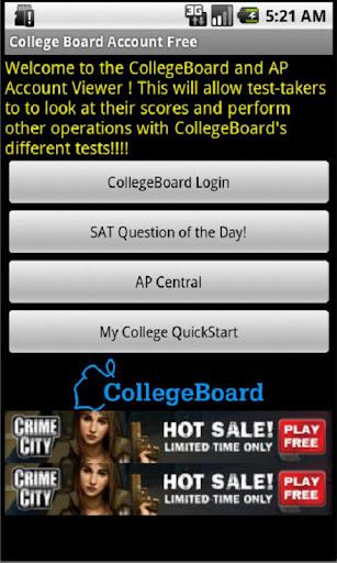 College Board SAT AP Account
