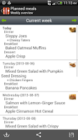 Screenshot of Food Planner Pro Module