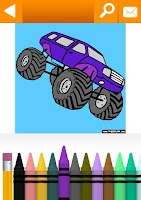 Screenshot of Vehicles Coloring Book Free