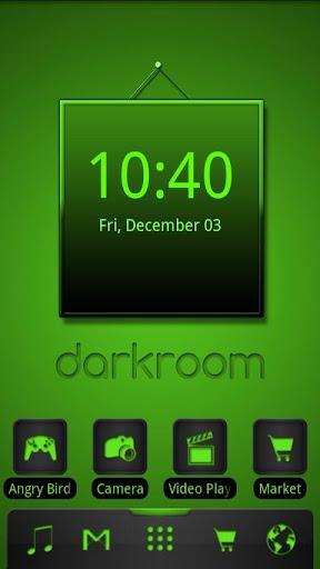 ADW Theme Darkroom Green