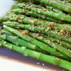 Asparagus With Lemon Browned Butter Sauce