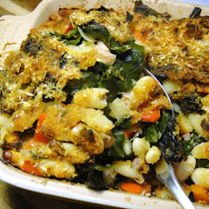 Collard Green and White Bean Gratin